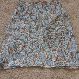 LOFT Skirts - Loft Floral Skirt Lined Petites